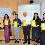 (L to R) Ar. Sohan Lal Saharan, Ar. Apurva Bose Dutta, Shri Anurag Agarwal, Ar. Shiv Datt Sharma, Ar. Sabeena Khanna, Prof. Sangeeta Bagga unveil the book (Pic courtesy: Rajiv Kumar, CCA)