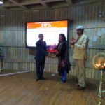 Being Felicitated by Principal Ar. Ajay Kaushik